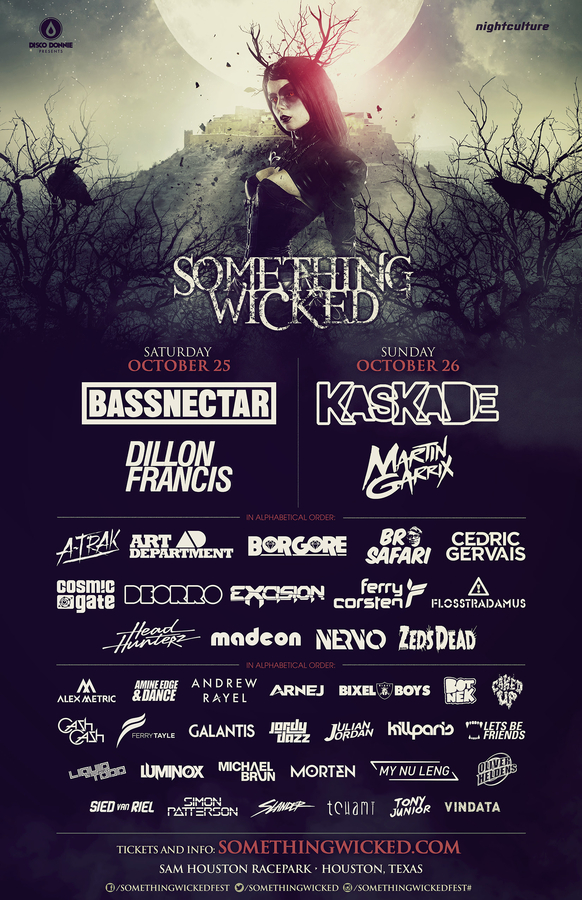 texass largest halloween dance music festival expands to 2 days featuring over 40 artists for 2014 - List Of Halloween Music