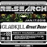 RE:Search ft. Gladkill & Great Dane w/ Special Guests at Cervantes' Other Side